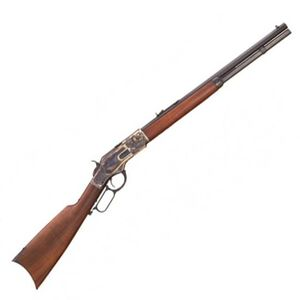 "Cimarron 1873 Short Lever Action Rifle .357 Magnum 20"" Barrel 10 Rounds Case Hardened Receiver Wood Stock and Forend Blued CA271"