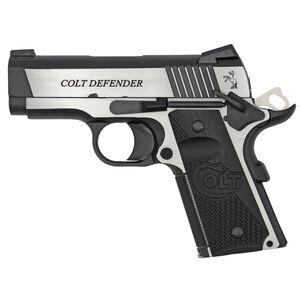 "Colt 1911 Combat Elite Defender Model Semi Auto Pistol .45 ACP 3"" Barrel 8 Rounds Ambidextrous Safety Novak Night Sights G10 Grips Two Tone Finish"