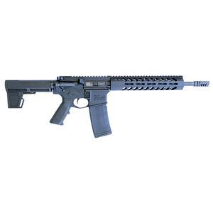 "HM Defense Raider M5 5.56 NATO AR-15 Semi Auto Pistol 12.5"" Barrel 30 Rounds Free Float M-LOK Hand Guard Shockwave Blade Pistol Stabilizing Brace Matte Black"
