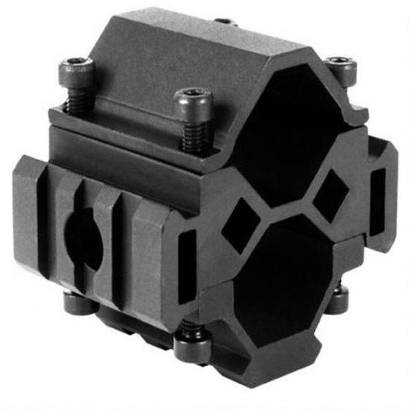 AIM Sports 12 Gauge Shotgun Tri-Rail Barrel Mount Aluminum Black
