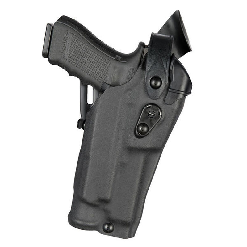 Safariland 6360RDS ALS/SLS Mid-Ride Duty Holster Fits SIG P320 Compact/Carry with Red Dot and Light Hardshell STX Basketweave Black