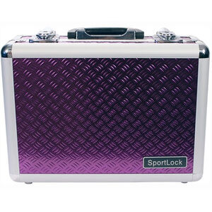 Sportlock Alumalock Double Handgun Case Small Aluminum Interlocking Foam Crate Foam Purple 00420