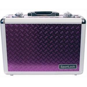 Sportlock Alumalock Double Handgun Case Small Aluminum Interlocking Foam Crate Foam Purple 00420