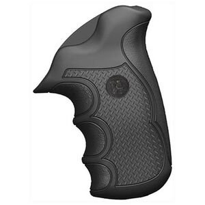 Pachmayr Diamond Pro Ruger SP101 Checkered Grips Black