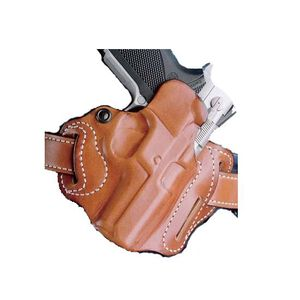 "DeSantis Speed Scabbard Belt Holster 1911 Commander 4"" Right Hand Leather Tan 002TA20Z0"