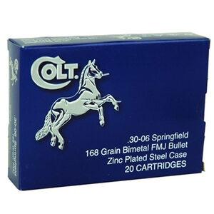 Colt .30-06 Springfield Ammunition 20 Rounds Steel Case FMJ 168 Grains AC3006A