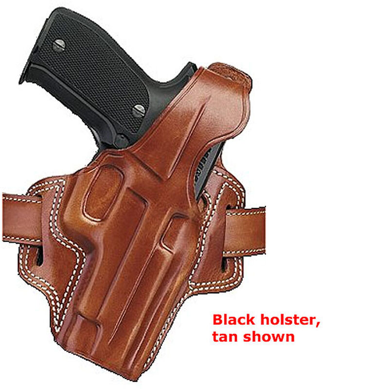 F.L.E.T.C.H. High-Ride Belt Holster SIG Sauer P245 P228 & P229 Right Hand Leather Black
