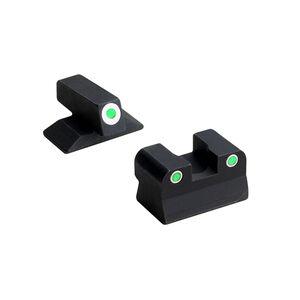 Beretta Vertec Tritium Night Sight Set M9A3 3 Dot Configuration Green Tritium Steel Housing Matte Black