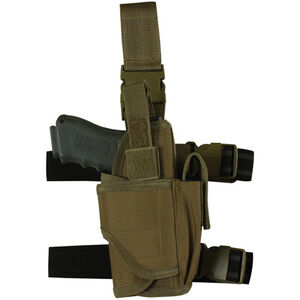 Fox Outdoor Commando Tactical Drop Leg Holster Large Autos Left Hand Coyote Tan 58-6885