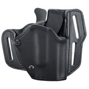 BLACKHAWK! Grip Break Holster Leather Right Hand GLOCK 17/19/22/23/31/32 Black 421903BK-R