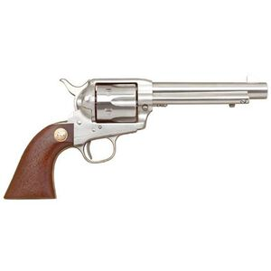 "Cimarron Model 'P' Single Action Revolver .45 Long Colt 5.5"" Barrel 6 Rounds Stainless Steel Pre-War Walnut Grip MP4501"