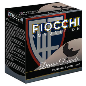 "Fiocchi 12 Gauge Ammunition 25 Rounds 2.75"" #7.5 Lead Shot 1.125 oz. 12GTX187"