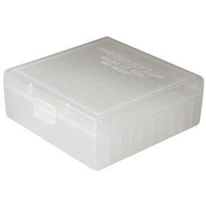 Berry's Ammo Box 100 Round .38 Spl/.357 Mag and Similar Polymer Clear