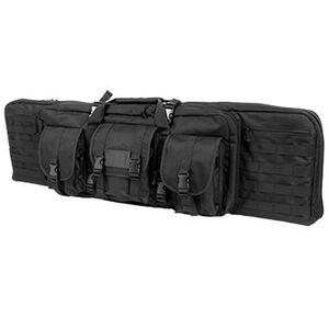 "NcSTAR Double Carbine Case 42"" Padded Synthetic Fabric Black"