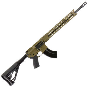 "Diamondback Firearms DB15 AR-15 Semi Auto Rifle 6.5 Grendel 18"" Barrel 28 Rounds 15"" KeyMod Free Float Rail Collapsible Stock Flat Dark Earth Finish"