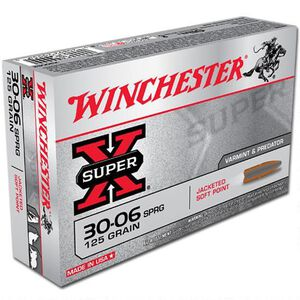 Winchester Super X .30-06 Springfield Ammunition 20 Rounds JSP 125 Grains X30062