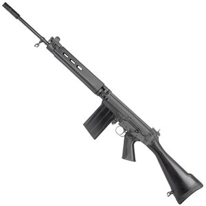 """DS Arms SA58 Semi Automatic Rifle 308 Winchester 21"""" Barrel 20 Rounds Adjustable Sights Black Synthetic Stock Black Finish"""