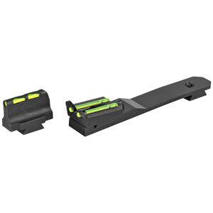 Hi-Viz Henry Rifle Fiber Optic Sight Set Red/Green/White Adjustable Rear Sight Steel Black HHVS570