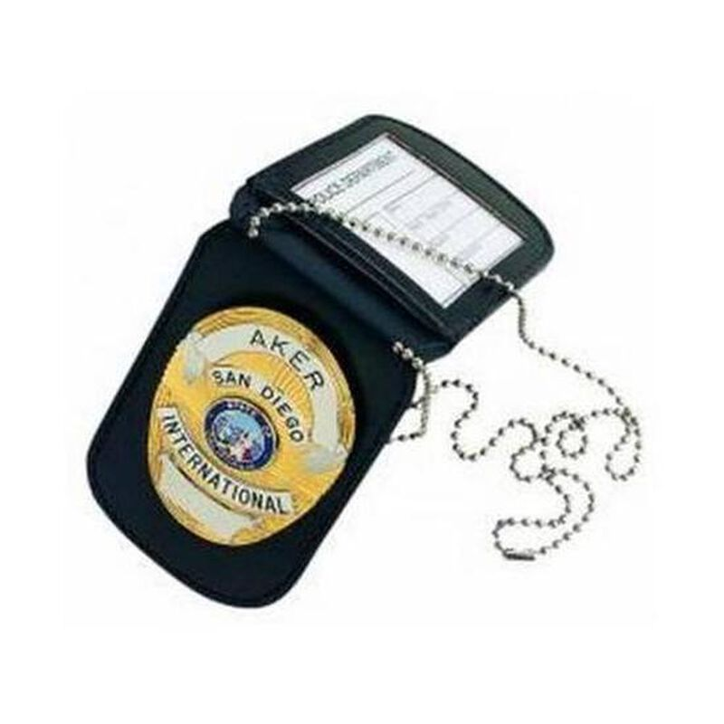 Aker Leather 597 Neck Badge and ID Holder Cowhide