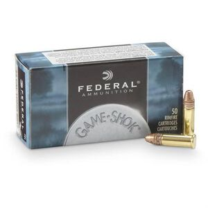 Federal .22LR Ammunition 50 Rounds, Game-Shok CPHP, 31 Grains