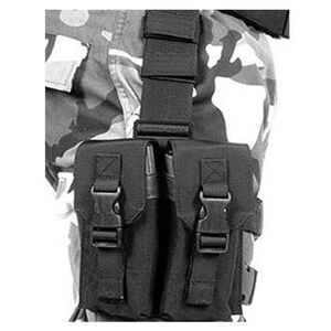BLACKHAWK! Omega Elite Drop Leg Rig 2 Double AR-15 Magazine Pouches Holds 4 Mags Black