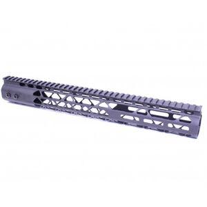 "Guntec AR-15 15"" Air Lite M-LOK Free Floating Handguard with Monolithic Top Rail Aluminum Anodized Black"