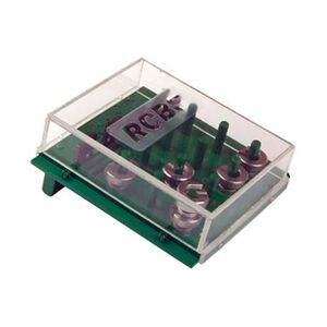 RCBS Shell Holder Rack 12 Pegs Polymer Green With Clear Lid 9461