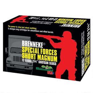 """Brenneke USA Special Forces Short Magnum 12 Gauge Ammunition 5 Rounds 2-3/4"""" Length 1-1/4oz Lead Slug 1476fps"""