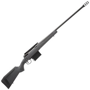 "Savage 110 Long Range Hunter Bolt Action Rifle .338 Lapua Magnum 26"" Heavy Barrel 5 Rounds DBM Synthetic AccuStock AccuFit System Matte Black/Matte Gray Finish"
