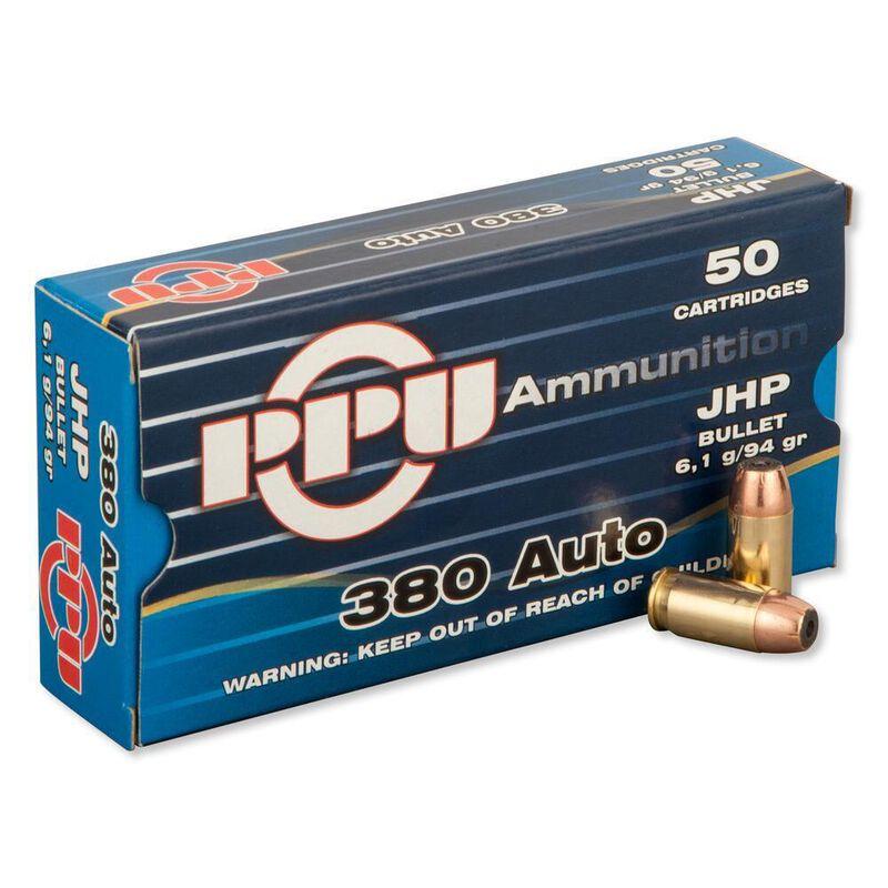 Prvi Partizan PPU .380 ACP Ammunition 50 Rounds 94 Grain JHP 951fps