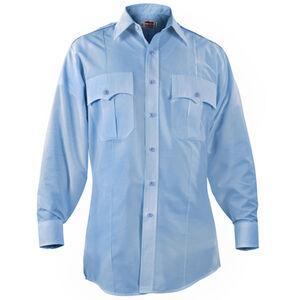 "Elbeco Paragon Plus Men's Long Sleeve Shirt Neck 16.5 Sleeve 35"" Polyester Cotton Blue"