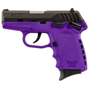 "SCCY Industries CPX-1 Semi Auto Handgun 9mm Luger 3.1"" Barrel 10 Rounds Purple Polymer Frame with Black Nitride Finish CPX-1 CBPU"