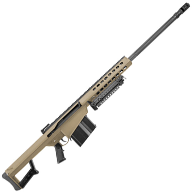 """Barrett M82A1 Semi Automatic Rifle .416 Barrett 29"""" Fluted Barrel 10 Rounds Flat Dark Earth Cerakote Finish"""