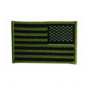 Voodoo Tactical  Embroidered USA Military Flag Patch, OD Green