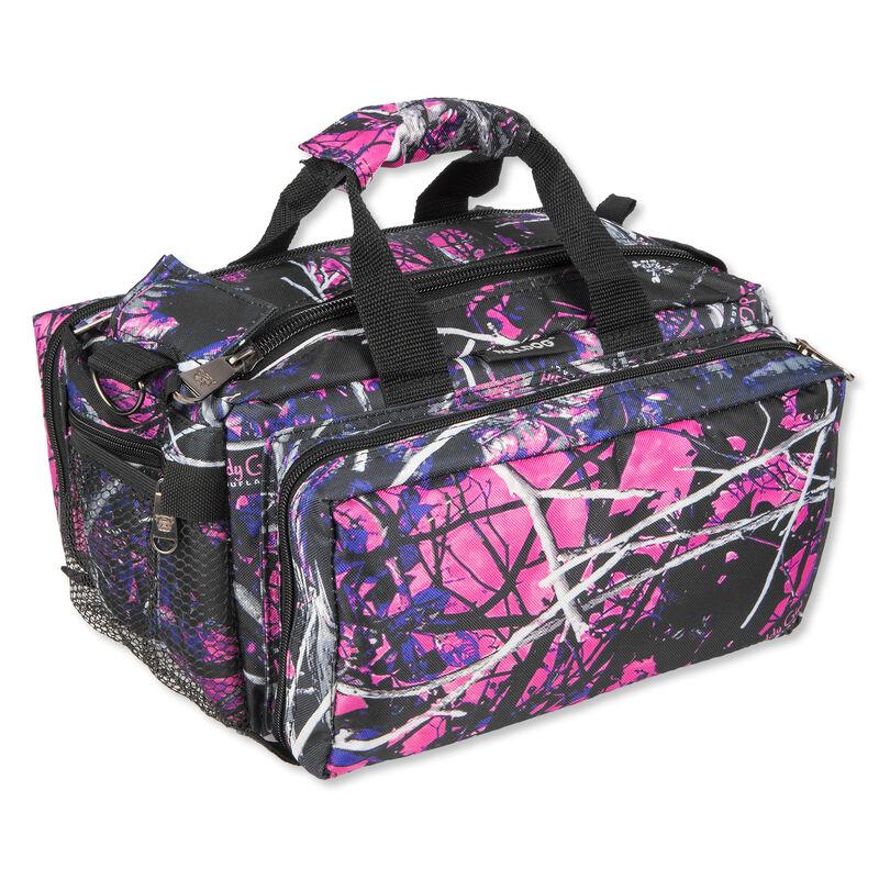 "Bulldog Tactical Deluxe Range Bag, 13""x7""x7"", Nylon, Pink Muddy Girl Camo"