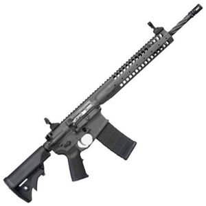 """LWRC IC Individual Carbine SPR AR-15 Semi Auto Rifle .223 Rem/5.56 NATO 16"""" Spiral Fluted Overall Length 14.7"""" with Pinned Muzzle Device Barrel 30 Rounds Extended SPR Hand Guard Gas Piston Black ICR5B14PSPR"""