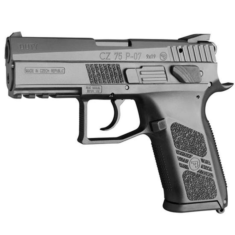 "CZ P-07 Semi Auto Pistol 9mm Luger 3.8"" Barrel 10 Rounds Polymer Frame Black Nitride Finish"