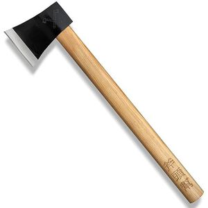 """Cold Steel Axe Gang Hatchet Fixed 4"""" Plain Drop Forged 1055 Carbon Steel Blade American Hickory Handle 90AXG"""