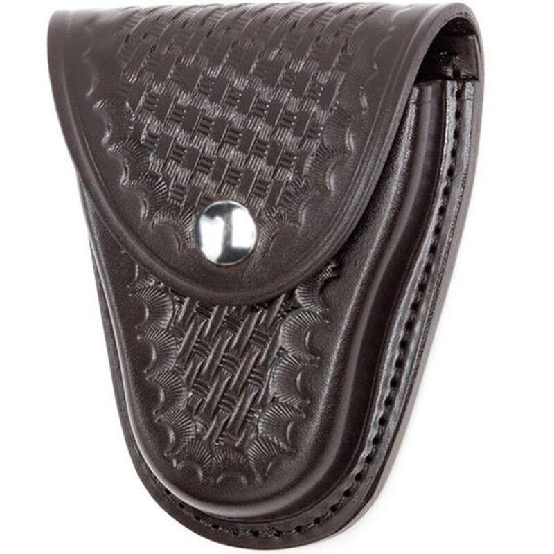 "Gould & Goodrich Handcuff Case Leather Fits 2-1/4"" Belt Basket Weave Finish Black B670W"