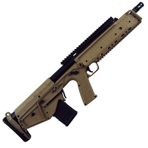 "Kel-Tec RDB Semi Auto Bullpup Rifle 5.56 NATO 17.3"" Barrel 20 Round AR-15 Compatible Magazine Ambidextrous Controls Downward Ejection Synthetic Stock Tan Finish"
