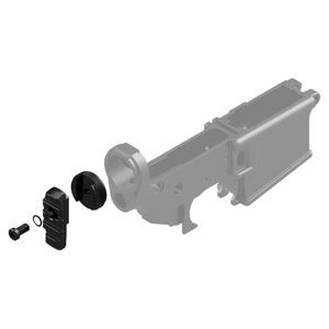 KNS Precision AR/MCX Stock Adapter With Flange For AR-15 Black