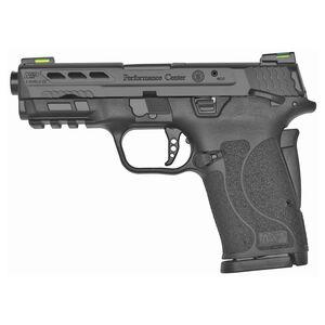 "S&W Performance Center M&P9 SHIELD EZ 9mm Semi Auto Pistol 3.8"" Ported Barrel 8 Rounds Thumb Safety Hi-Viz Sights Black"