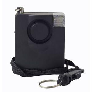 UZI Sonic Shield II Personal Alarm 130 Decibel Flashing LED Black UZI-PA-1
