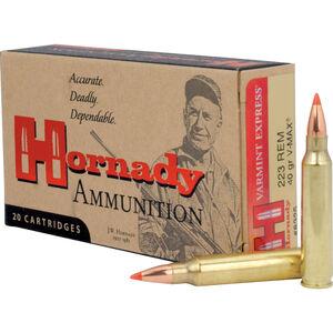 Hornady Varmint Express .223 Remington Ammunition 20 Rounds V-Max 40 Grains 8325