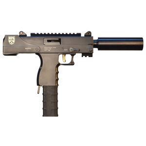"Masterpiece Arms Defender MPA30SST 9mm Luger Semi Auto Pistol 4.5"" Threaded Barrel 30 Rounds Side Cocker/Scope Mount Aluminum Lower Matte Black Finish"