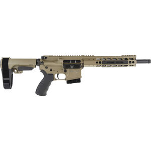 "Alexander Arms P-50 Highlander .50 Beowulf AR-15 Semi Auto Pistol 12"" Barrel 7 Rounds Mil-Spec Trigger Manticore Freefloat Handguard Adjustable SB Tactical Pistol Brace FDE Finish"