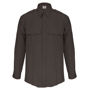 "Elbeco Textrop2 Men's Long Sleeve Shirt Neck 16.5 Sleeve 37"" 100% Polyester Tropical Weave Black"