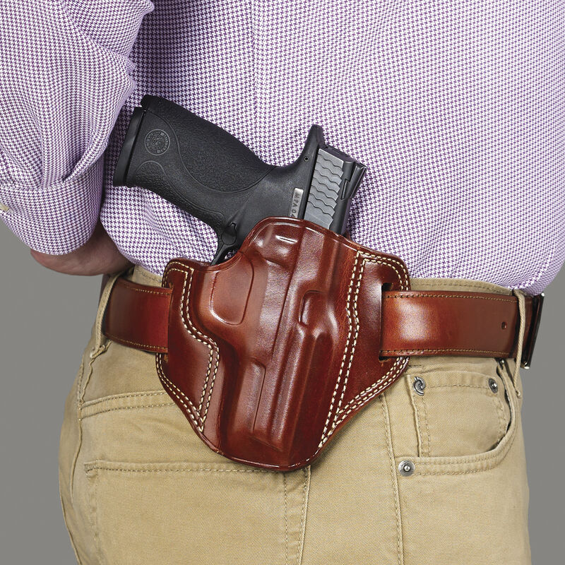 """Galco Combat Master Belt Holster Colt 1911 Models with 3"""" Barrels Right Hand Draw Leather Black"""