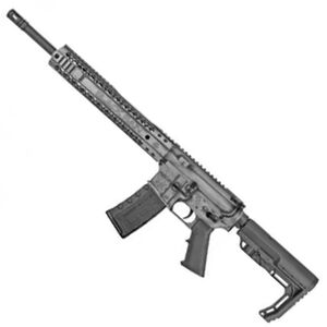 "Black Rain Ordnance Billet 5.56 NATO AR-15 Semi Auto Rifle 16"" Barrel 30 Rounds Free Float Hybrid Hand Guard Collapsible Stock Smith's Grey Battleworn Cerakote Finish"