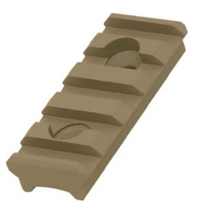 UTG PRO 5-Slot Super Slim Free Float Rail Section -FDE